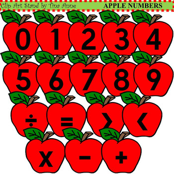 Clip Art Apple Numbers