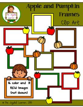 Clip Art: Apple and Pumpkin Frames (freebie)