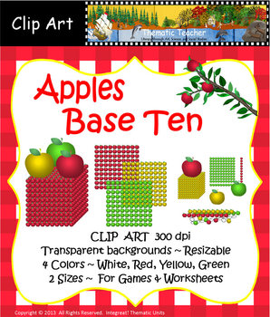 Clip Art - Apples, Base Ten