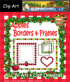 Clip Art-Apples Borders & Frames