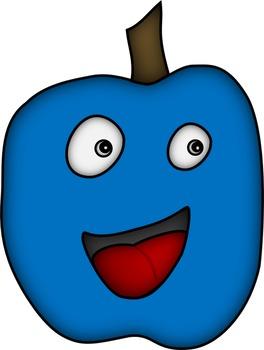 Clip Art - Happy Apples - Pommes joyeuses