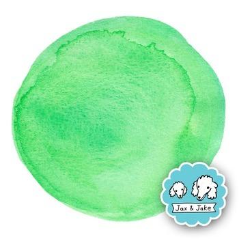 Clip Art: Aqua + Green Watercolor Dots / Circles Personal and Commercial Use OK