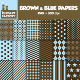 Clip Art: Assorted Brown and Blue Background Patterns - 18