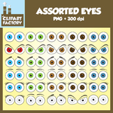 Clip Art: Assorted Eyes Pack - Eyes in various expressions