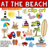 At the Beach- Clip Art - Chris Q Clip Art