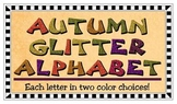 Clip Art - Autumn Glitter Alphabet