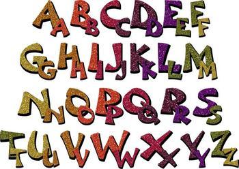 Clip Art - Autumn Glitter Alphabet