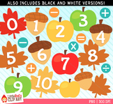 Fall Numbers Clipart