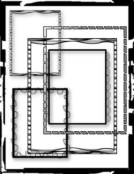 Clip Art - B&W FRAMES - BLACK AND WHITE FRAMES