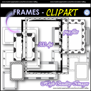 Clip Art - B&W FRAMES - BLACK AND WHITE FRAMES