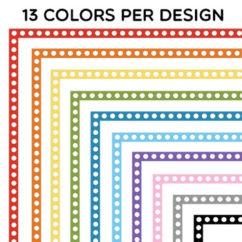 Clip Art: BASIC Borders: 182 Simple and Colorful Borders