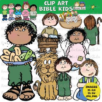 Clip Art BIBLE KIDS (Karen's Kids Clip Art)