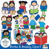 Clip Art BOOKS and READING (Karen's Kids Clip Art)