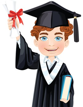 Clip Art - BRAYDON - male, boy, student, digital graphics - graduation