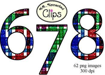Clip Art - Back to School Glitter Plaid Alphabet