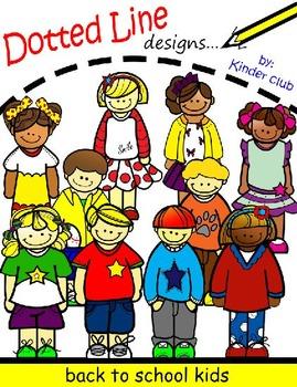 Back to School Kids         -Clip Art
