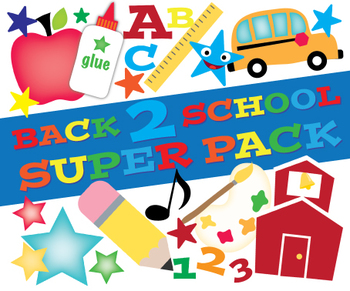 Clip Art: Back to School Super Pack (Personal & TPT Commercial Use)