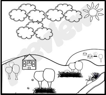 Clip Art- Background - Hills