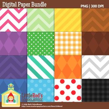 Clip Art: Backgrounds Bundle - 192 Digital Papers