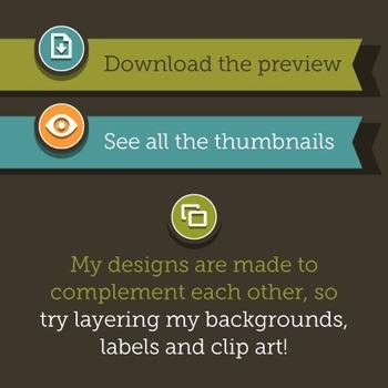 Clip Art: Backgrounds Chevron 60 Digital Paper Patterns