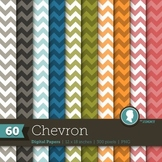 Clip Art: Backgrounds Chevron 60 Digital Paper Patterns