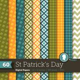 Clip Art: Backgrounds St. Patrick's Day 200 Digital Paper Patterns