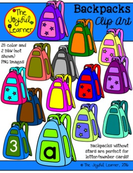 Clip Art: Backpacks