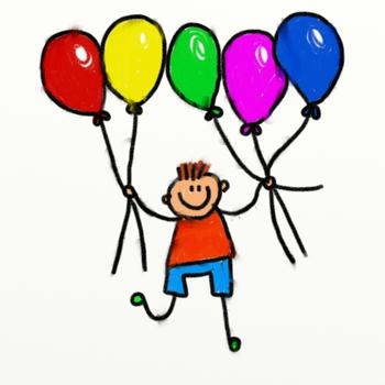 Clip Art Balloon Boy Cartoon