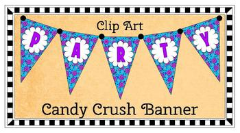 Clip Art Banner: Candy Crush