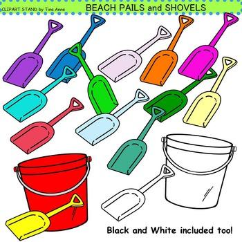 Clip Art Beach Pails And Shovels