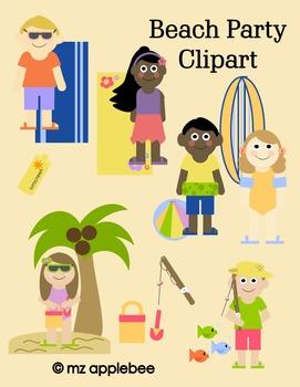 Clip Art: Beach Party