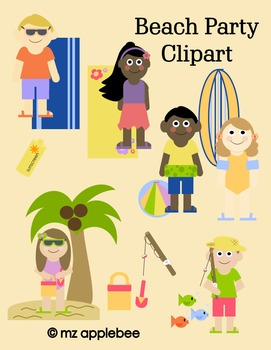 Clip Art: Beach Party