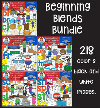 Clip Art - Beginning Blends Mega Bundle