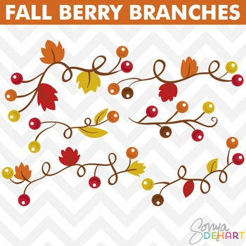 Clipart - Berries on Vines
