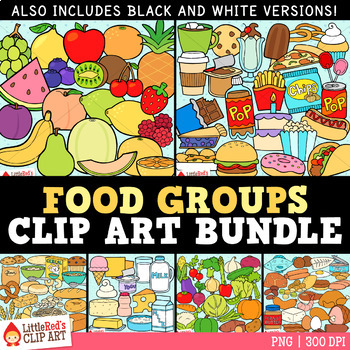 Food Clip Art Bundle { Food Groups Clipart }