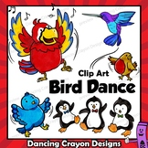 Clip Art Bird | Clipart of Dancing Birds