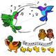 Clip Art Bird | Clipart of Dancing Birds