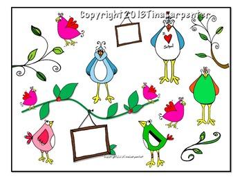 Clip Art: Birds Brighten Your Day