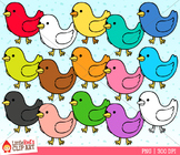 Rainbow Bird Clipart