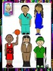 Clip Art~ Black History Month Now and Then