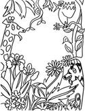 Clip Art, Black & White Fun Activity, Drawing, Sub Plans,Art