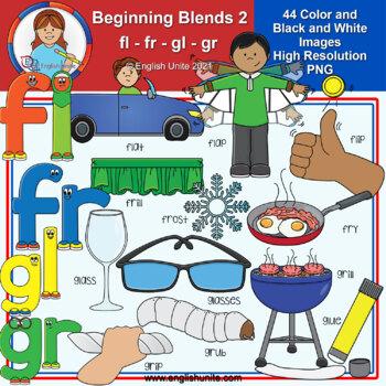 Clip Art - Beginning Blends 2 (fl/fr/gl/gr)