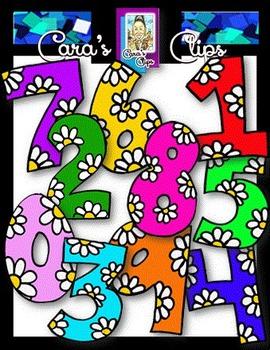 Clip Art~ Bloomin' Numbers