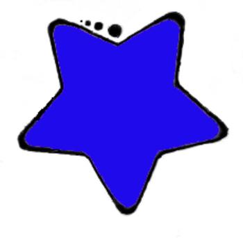 Clip Art-Blue Star