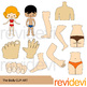 Clip Art Body Parts Collection / Clipart Bundle / The body and face