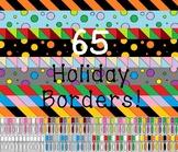 Clip Art Holiday Borders Bundle