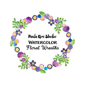 Watercolor Clipart Wreaths