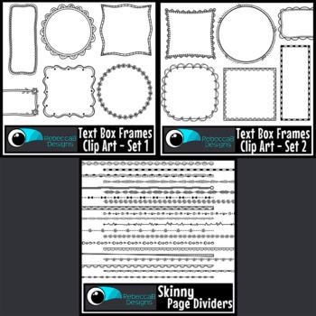 Borders and Frames Clip Art Bundle Set 2