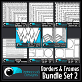 Borders and Frames Clip Art Bundle Set 2