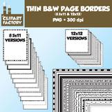 Clip Art: Borders and Frames - 24 Fun decorative page borders 8.5x11 & 12x12